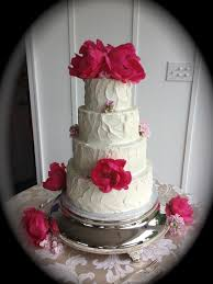 wedding cake white textured with pink peony ashley inn kentucky