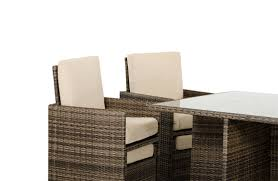 barcelona rectangular compact table 6 fold out chairs and 6