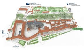 Royal Castle Floor Plan by Castle Map Prague Castle For Visitors