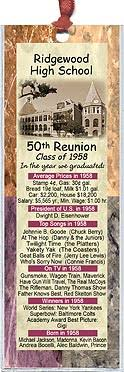 favors for class reunions class reunion favors these bookmarks are personalized with your