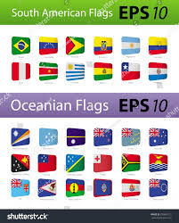 Latin American Flags South American Oceania Flags Stock Vector 235869712 Shutterstock
