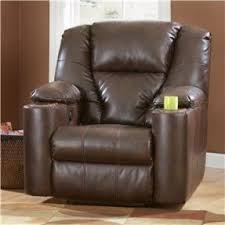 leather recliners with cup holders foter