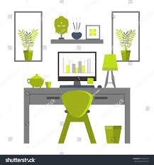 flat design zen home office layout stock vector 512615755 flat design of zen home office layout relaxing work environment
