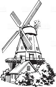 dutch windmill vector clipart stock vector art 518697987 istock