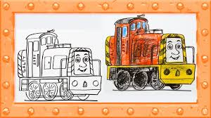 draw salty thomas friends drawing colors