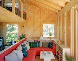 tiny off grid cabin in maine is completely self sustaining
