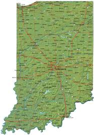Indiana State Map Detailed Map Of Indiana Indiana Map