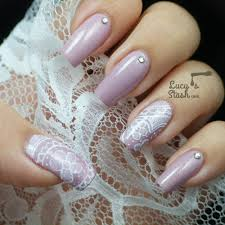 nail art holographic nails lace design youtube