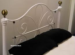 Brass Double Bed Frame White Metal Bed Frame With Antique Brass 4ft 6