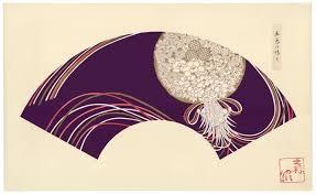 japanese fan yamaoka chinpei japanese fan design woodcut prints circa 1930