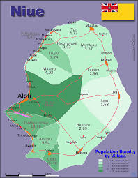 niue on world map niue country data links and maps of the population density by