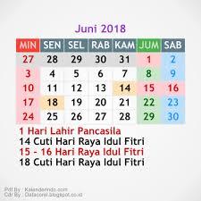 Kalender 2018 Hari Raya Idul Fitri 6 Kalender 2018 Cdr File Simple Kalender Indo Juni Design Corel