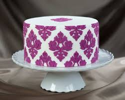 Damask Pattern lay A 3D Stencil for Cakes and Arts & Crafts
