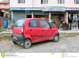 indian car tata red tata nano editorial stock image image of cafeteria 36534679
