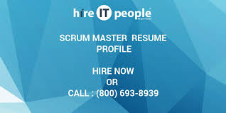 Scrum Master Sample Resume by Scrum Master Resume Profile Hire It People We Get It Done