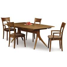copeland catalina walnut trestle extension dining table american