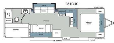 catalina rv floor plans used 2012 coachmen rv catalina santara series 281bhs travel trailer
