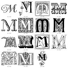 6 font decorative initials images letter s font styles letter m