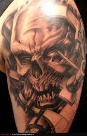 dice skull and clock sleeve tattoos in 2017 photo pictures