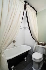 Clawfoot Bathtub Shower Shower Curtain For Clawfoot Tub Bathroom Contemporary With Bath