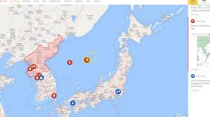 Seas Of The World Map by North Korea Staging Troops Russian Assets Over Sea Of Japan