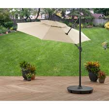 Offset Patio Umbrella With Base Better Homes And Gardens 11 Offset Umbrella With Base