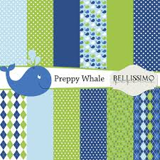 themed paper preppy whale themed paper pack scrapbook and 50 similar items