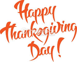 happy thanksgiving day calligraphic text vector thinkstock