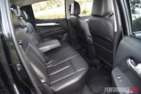 lexus ls backseat 2015 holden colorado vs isuzu d max 4x4 ute comparison video