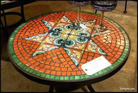Mosaic Accent Table Patio Ideas Diy Mosaic Tile Outdoor Table Outdoor 3 Piece Aqua