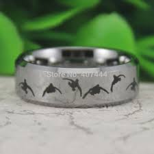 duck band wedding ring free shipping usa uk canada russia brazil hot sale 8mm silver