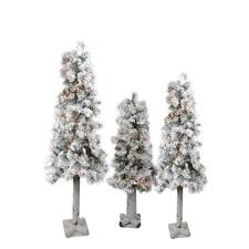set of 3 woodland alpine artificial trees 3 4 and 5