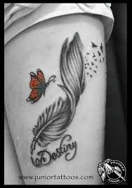 feather quill pen with butterfly 2014 astron tattoos india