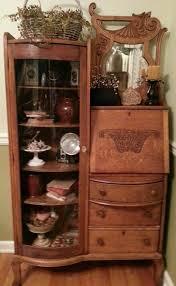 Antique Curio Cabinet With Desk 47 Best Oak Secretary Images On Pinterest Bookcases Secretary
