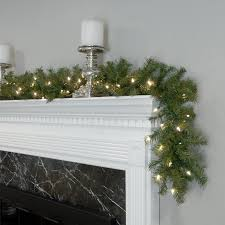 three posts pre lit garland with 50 led lights reviews wayfair