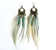feather earrings s breakfast at s feather earrings by insidethebirdcage