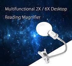 le de bureau loupe 6x loupe multi usage clip sur le bureau loupe le loupe lunettes