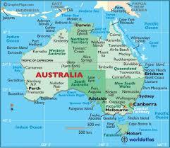 Fabuloso Australiano mapa - mundo- da Austrália no mapa (Austrália e Nova  @GH24