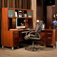 Bush Computer Desk With Hutch by Bush Somerset Cherry 71 In Computer Desk With Options Hayneedle