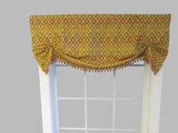 Yellow Gingham Valances by Tie Up Valances Solid Colored Patterned Prints
