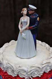 military marine corps usmc wedding cake topper ur hair flower