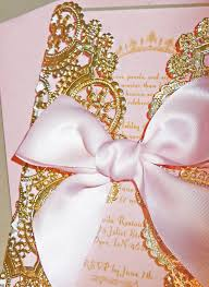 pink and gold baby shower invitations laser cut pink gold princess themed baby shower birthday