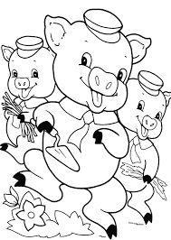 pigs live happily coloring pages batch