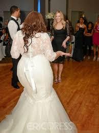 ericdresss beautiful lace mermaid plus size wedding dress 11653764