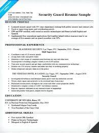 security officer resume sample u2013 okurgezer co