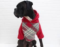 dog hoodie large dog christmas sweater clothing for boy