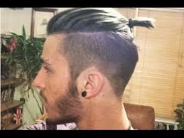man bun short sides shaved sides hairstyles men bun youtube