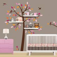 shelf tree decal tree decal with owl owl nursery theme shelf