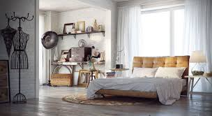 bedroom shabby chic industrial bedroom with white bed feat brown bedroom shabby chic industrial bedroom with white bed feat brown tufted headboard near cone white table lamp on white side table also vintage brown wall