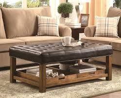 coffee tables appealing leather upholstered ottoman coffee table